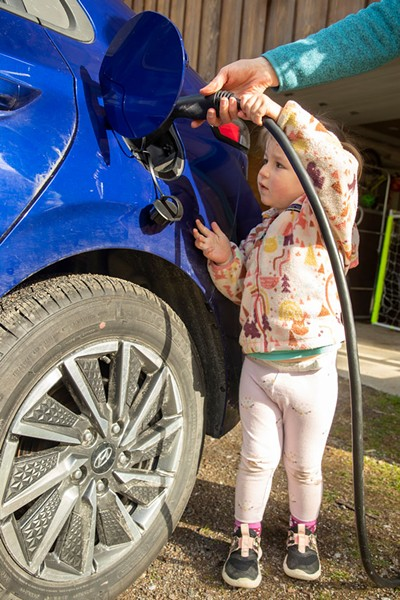 Isla charges up the Hyundai - JAMES BUCK