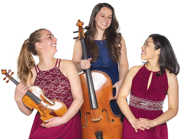 The Champlain Trio, from left: Letitia Quante, Emily Taubl and Hiromi Fukuda - COURTESY