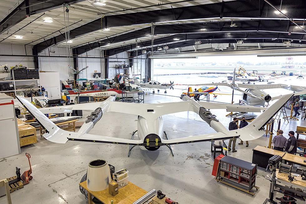 The hangar at Beta Technologies - OLIVER PARINI