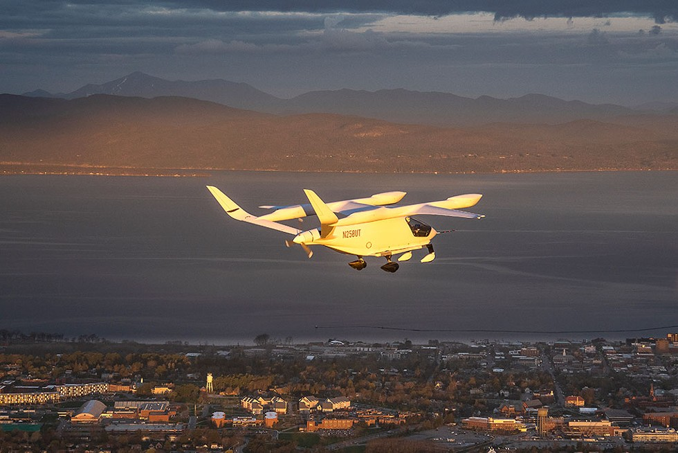 The Alia flying over Burlington - COURTESY OF BRIAN JENKINS/BETA TECHNOLOGIES