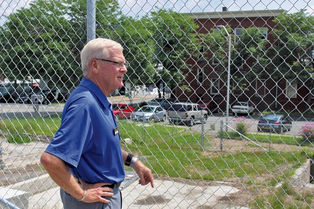 Jay Peak president Bill Stenger last August at Newport's Renaissance Block site - FILE: PAUL HEINTZ