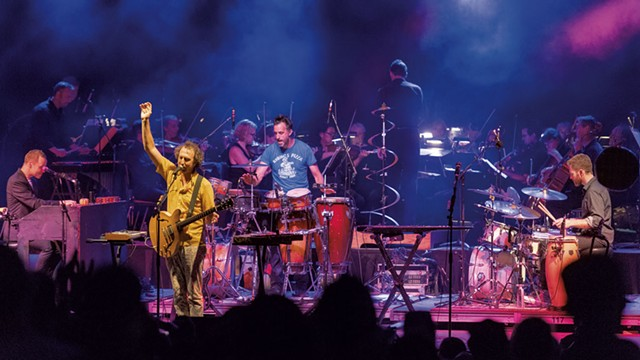 Guster with the Vermont Symphony Orchestra in 2018 - COURTESY OF RICK LEVINSON
