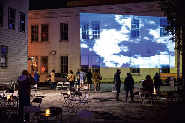 An outdoor screening - COURTESY OF ROB STRONG