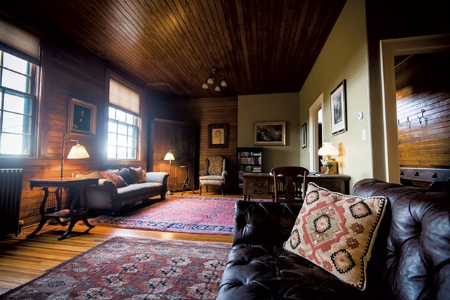 Interior of Kipling's carriage house - COURTESY OF KELLY FLETCHER PHOTOGRAPHY