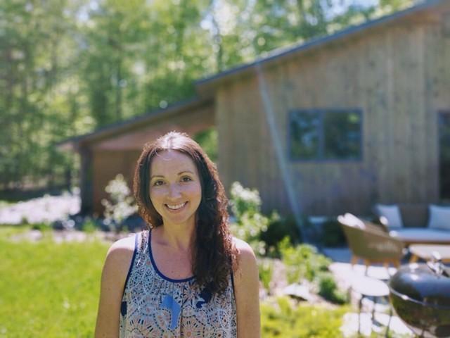Julie Marks at her short-term rental property in Jericho. - JULIE MARKS