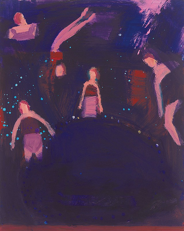 """""""Holiday After Dark"""" by Katherine Bradford - COURTESY OF THE ARTIST AND HALL ART FOUNDATION"""
