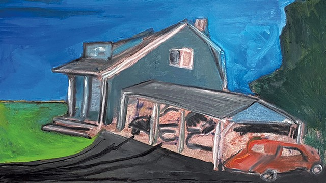 """""""Blue Heaven"""" by Marc Awodey - COURTESY OF STUDIO PLACE ARTS"""