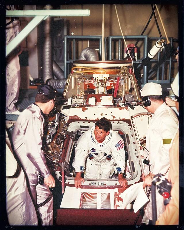Eugene Cernan exiting Apollo 10 - COURTESY OF TAMARA NICOLAI