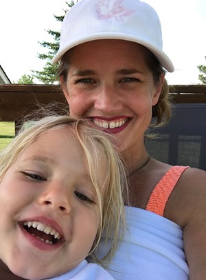 Kristen Ravin and her daughter, Virginia - COURTESY