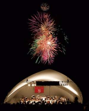 Vermont Symphony Orchestra concert tent - COURTESY OF BILL JALBERT