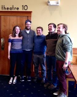 From left: Lauren Miller, Seth Rogen and Ryan, John and Griffen Fox - RICK KISONAK