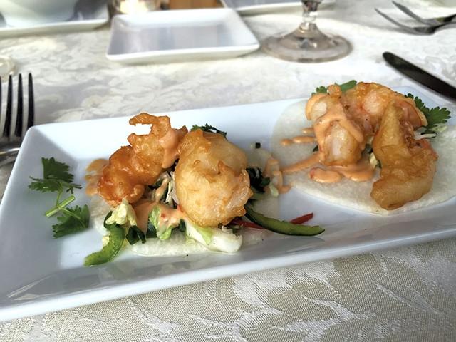Jicama tacos at Ariel's Restaurant - DON EGGERT