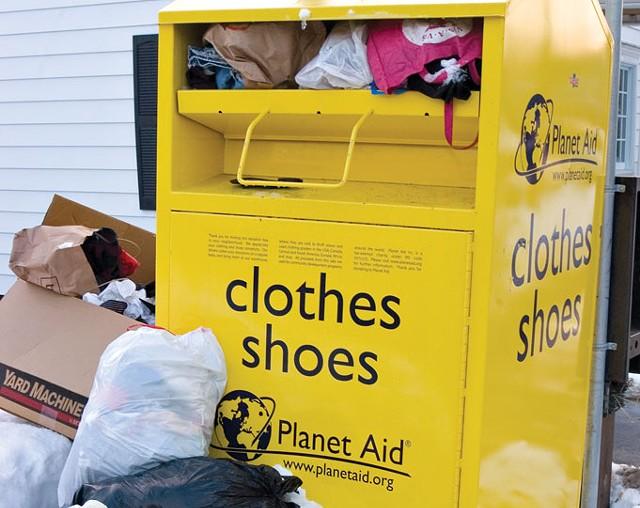 Burlington-area Planet Aid collection box - MATTHEW THORSEN
