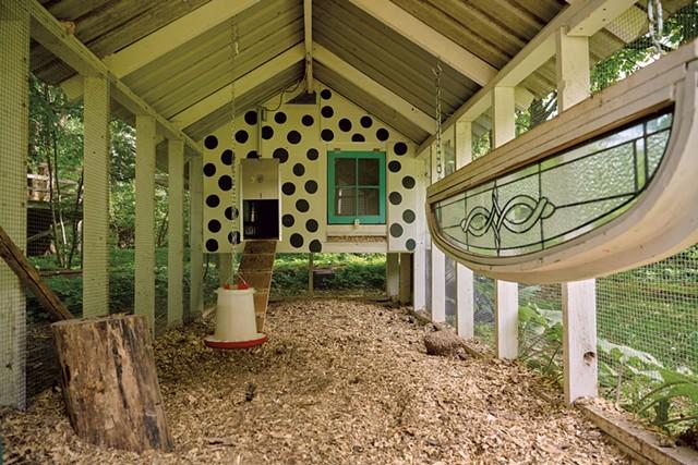 Lyn Severance's backyard chicken coop in Burlington - BEAR CIERI