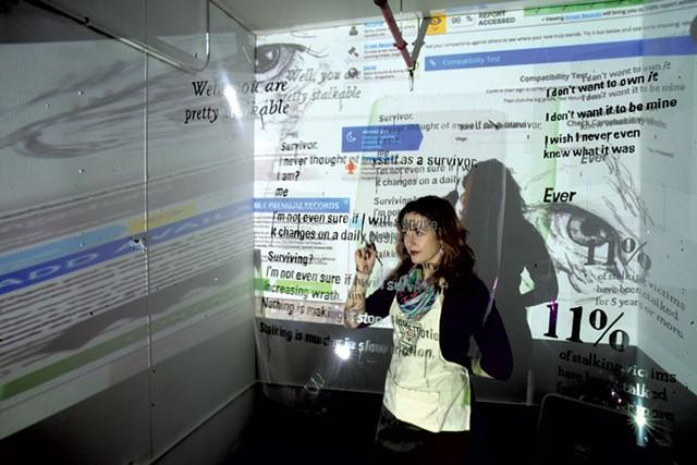 Toni-Lee Sangastiano in her studio - MATTHEW THORSEN