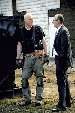 Tim Szad, left, and Sheriff Roger Marcoux - STEFAN HARD