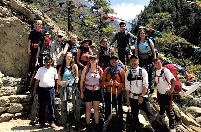 A mountain trek guided by US Sherpa - COURTESY