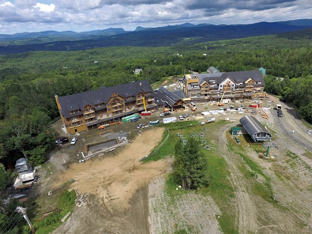 Q Burke Hotel & Conference Center under construction last July. - FILE: DON WHIPPLE