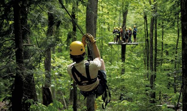 The Zip Line Canopy Tour at Arbortrek Canopy Adventures - COURTESY OF ARBORTREK CANOPY ADVENTURES