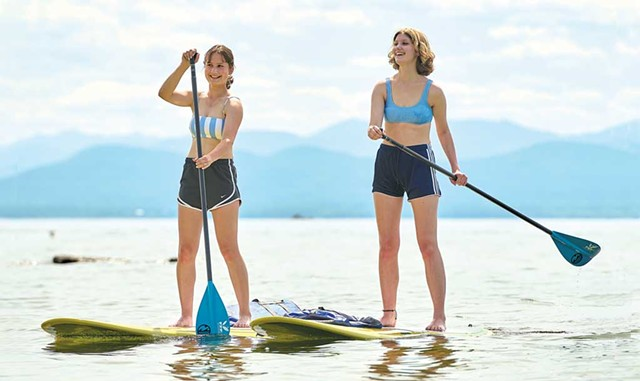 Paddleboarders on Lake Champlain - BEAR CIERI