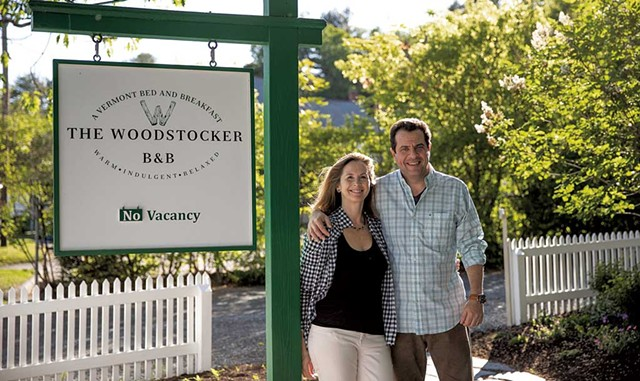 Owners Isabelle Chicoine and Karim Houry - COURTESY OF THE WOODSTOCKER B&B