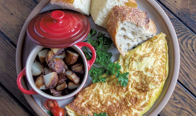 A breakfast omelette with potatoes - COURTESY OF JENNA RICE