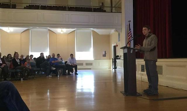 FJon Turner at a 2018 Vets Town Hall in Burlington - COURTESY OF THOMAS SHAHAN