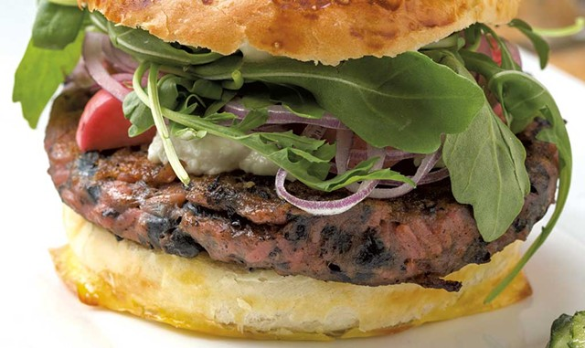 Grazers' beet burger and truffle fries - FILE: OLIVER PARINI