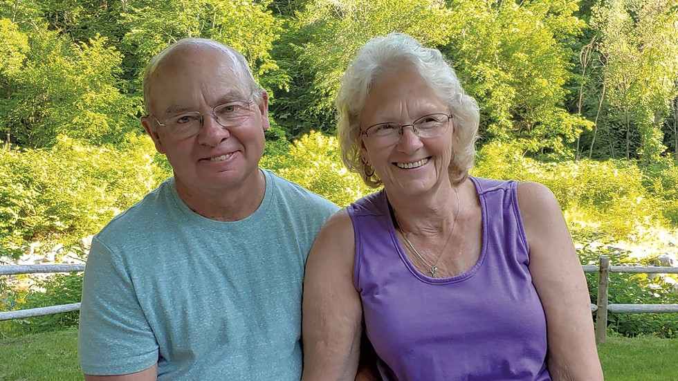 Suzanne Audy with her husband, Paul. - COURTESY PHOTO
