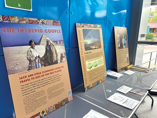 A display about the Clemmons Family Farm at ECHO Leahy Center for Lake Champlain as part of Burlington's Juneteenth celebration - MATTHEW ROY ©️ SEVEN DAYS