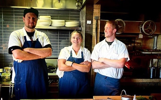 From left: Nick Frank, Laura Schantz, Kevin Sokal - COURTESY OF HEN OF THE WOOD