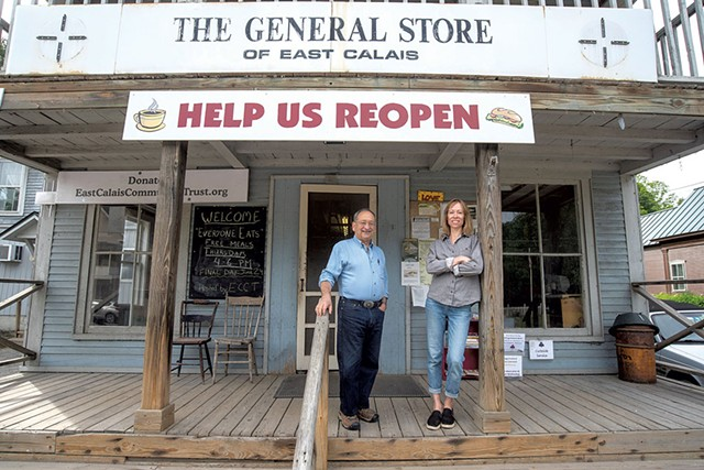 Marc Mihaly and Melissa Brough Marshall at the General Store of East Calais - JEB WALLAC-BRODEUR