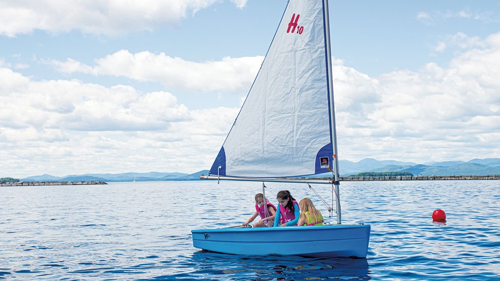 Kids learning to sail at the Lake Champlain Community Sailing Center - COURTESY OF JAKE SHAEFER