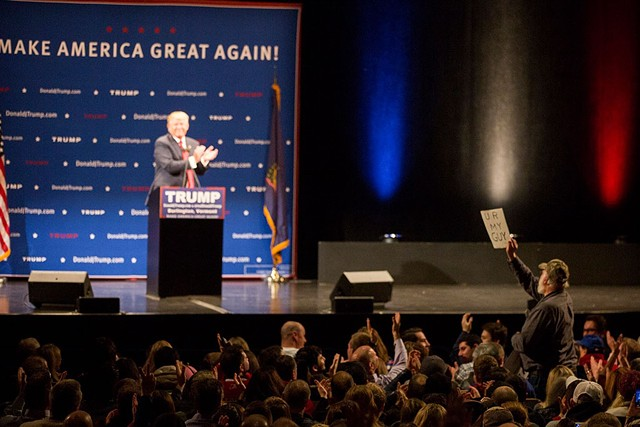 Donald Trump at the Flynn Center for the Performing Arts - JAMES BUCK/FILE PHOTO