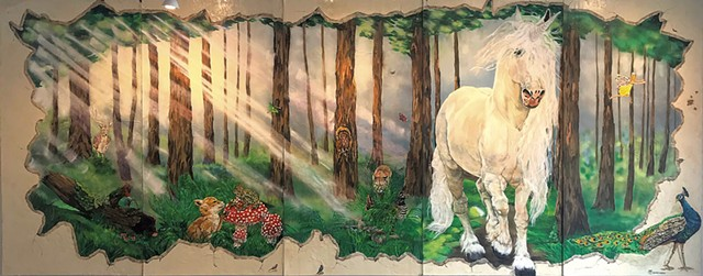 """""""Fantastic Forest"""" by Kathryn Wiegers - COURTESY OF SAM SIMON"""