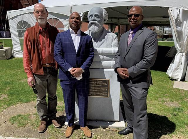 From left: Don Ramey, Robert Dennis and Mark Burnett - COURTESY OF STEVE COSTELLO / GREEN MOUNTAIN POWER