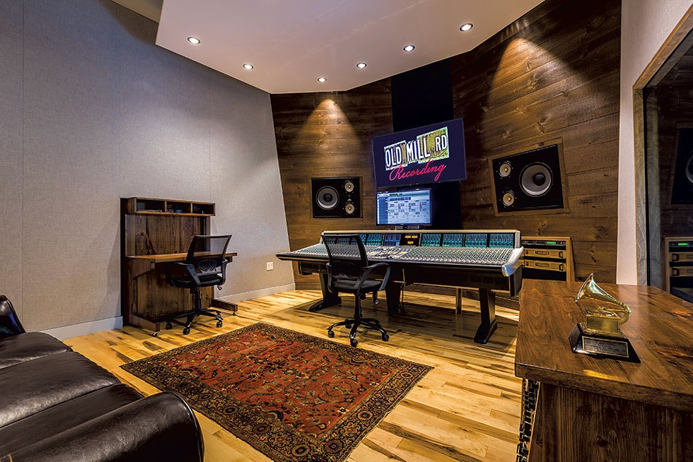 48-channel SSL Duality and custom speakers in the live room - COURTESY OF DAVID BARNUM