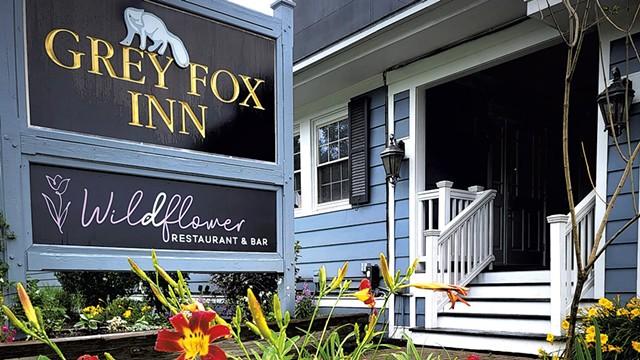 The entrance to Wildflower Restaurant & Bar at the Grey Fox Inn - COURTESY OF SILVER SUN GROUP