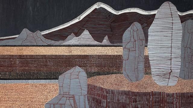 """""""Sentinels"""" by Virginia Dehn - COURTESY OF BUNDY MODERN"""