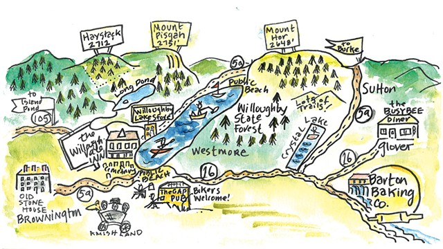 An illustration of Routly's travels by Lauren-Glenn Davitian - COURTESY OF LAUREN-GLENN DAVITIAN