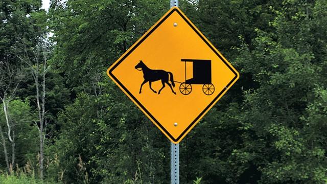 Amish signage - PAULA ROUTLY ©️ SEVEN DAYS