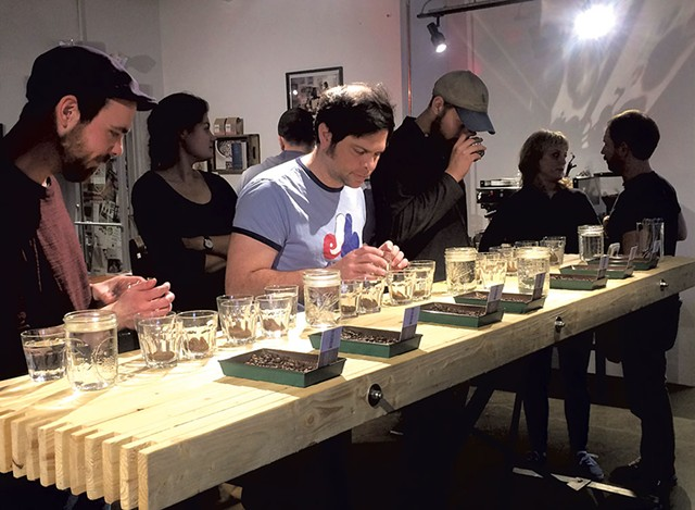 Public coffee cupping at Brio Coffeeworks - SUZANNE PODHAIZER