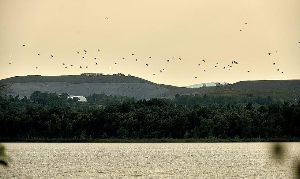 The Coventry Landfill, visible from the shore  of Lake Memphremagog - BEAR CIERI
