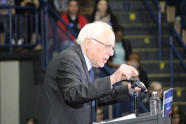 Sen. Bernie Sanders in March in Youngstown, Ohio - FILE: PAUL HEINTZ