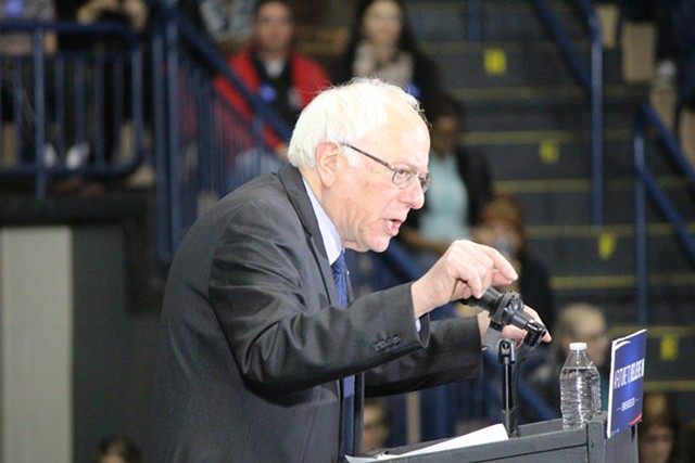Sen. Bernie Sanders in March in Youngstown, Ohio - FILE: PAUL HEINTZ