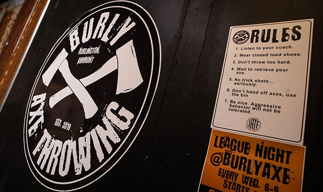 The rules of axe throwing on the wall - LUKE AWTRY