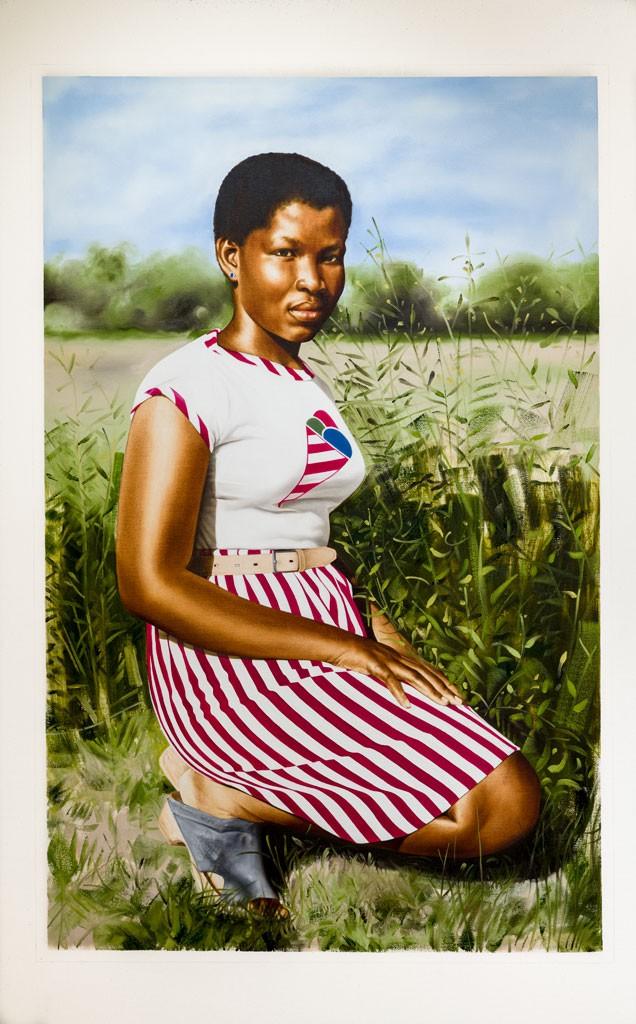 """Objects of Desire 6"" by Meleko Mokgosi - COURTESY OF PAUL ROGERS"