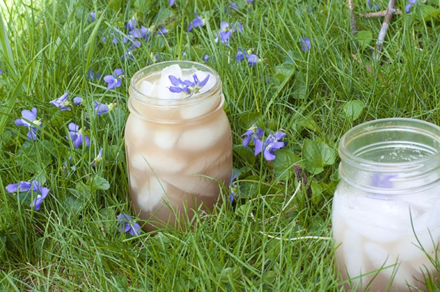 What could be springier than a rhubarb cocktail, sipped in the grass? - HANNAH PALMER EGAN