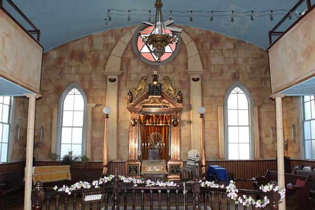 Interior of the synagogue - RABBI JAN SALZMAN