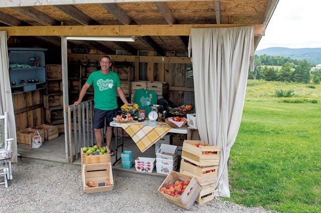 Todd Goodyear at the Paradise Fruit stand - CALEB KENNA
